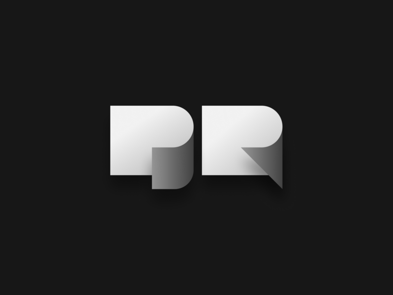 PR pr paper drawing illustration design identity branding logo icon