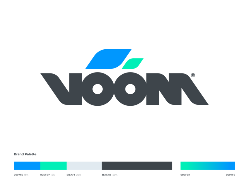 voom branding typography vector drawing app identity branding illustration logo icon