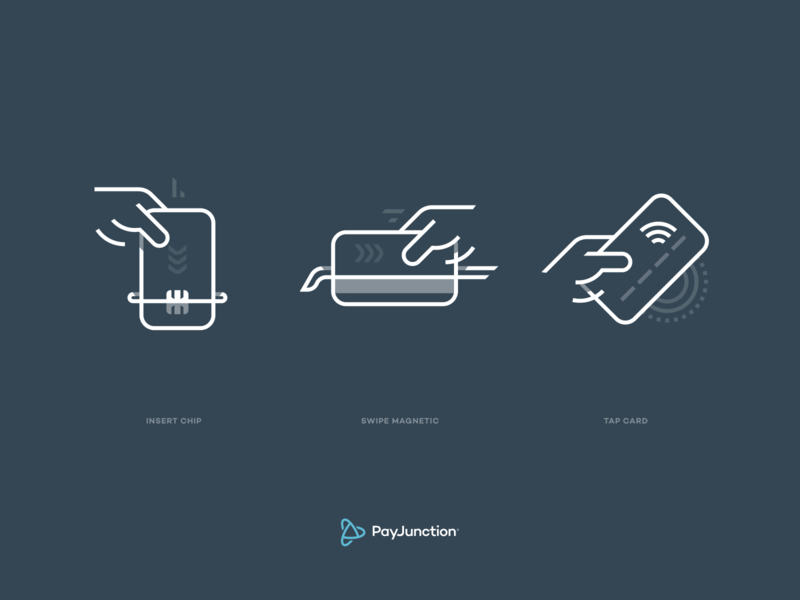 PayJunction - Icons payment identity branding set icon iconography icons chip swipe card credit