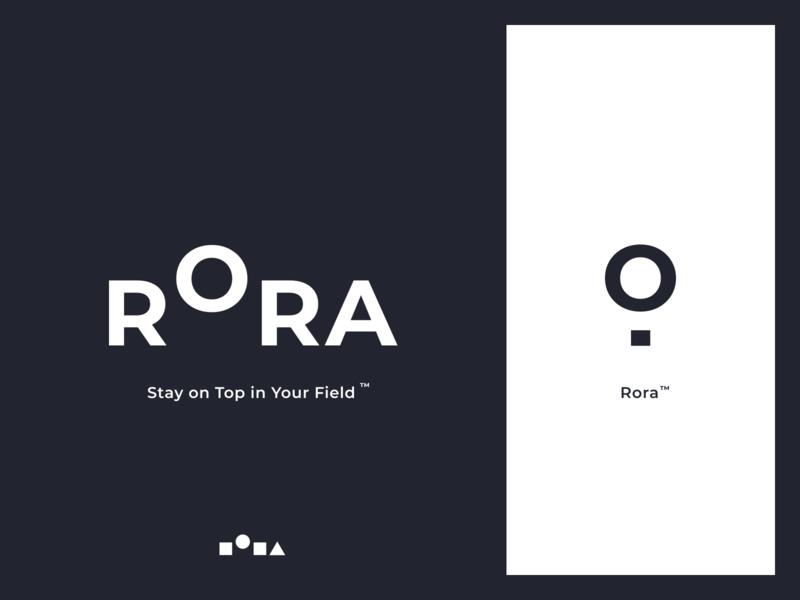 Rora ux typography mark app website identity branding illustration logo icon