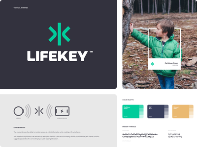 Lifekey - Branding typography landing iphone website app identity branding logo icon