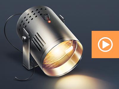 spotlight icon app spotlight light video tutorial lesson ios apple metal aluminum