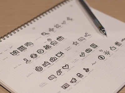 icon set iconset icon set app ios iphone sketch rough pencil drawing map paper