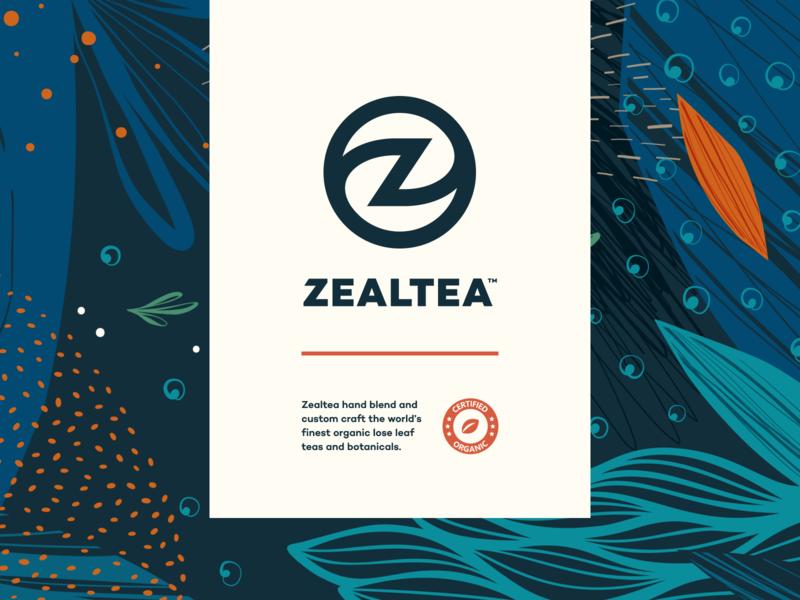 ZealTea - Branding drawing design vector typography sketch identity branding illustration logo icon
