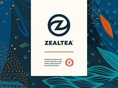 ZealTea - Branding drawing design vector typography sketch identity branding illustration logo icon