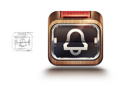 alarm icon iphone icon alarm app ios flip clock flipclock metal chrome wood button snooze light