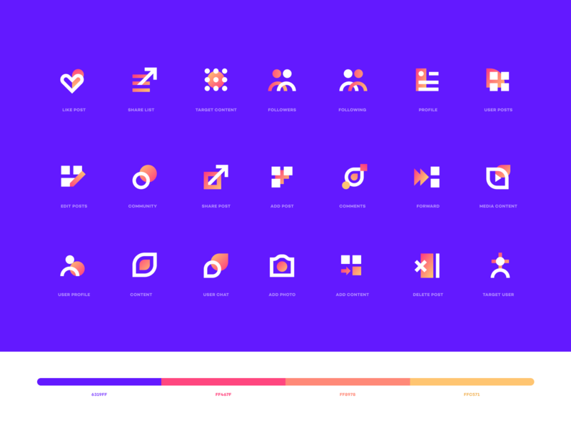 icon set ux ui ios website illustration branding logo icon