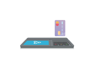 PayJunction - Smart Terminal crypto usd money card credit payment branding illustration icon