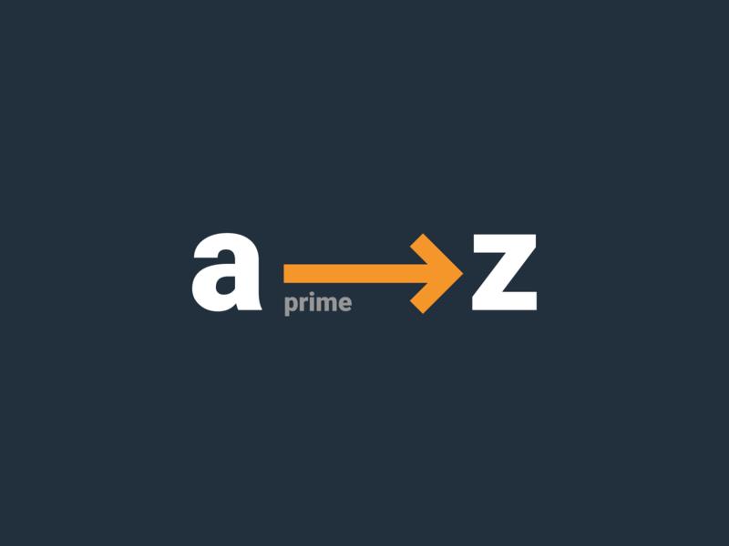 a→z arrow mark prime amazon identity branding logo icon