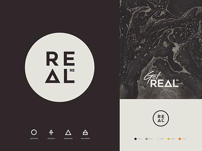 REAL.re Branding business card website identity illustration branding logo icon