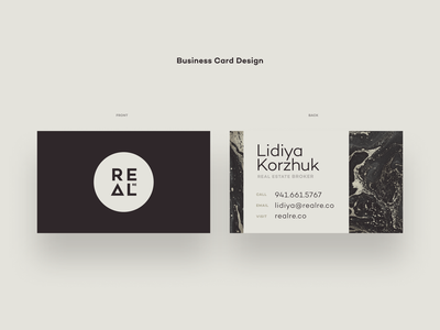 REAL - Business Cards branding identity typography icon illustration branding agency logo design card business
