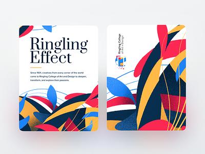 Ringling Effect typeography logo identity branding illustration card print florida sarasota school ringling