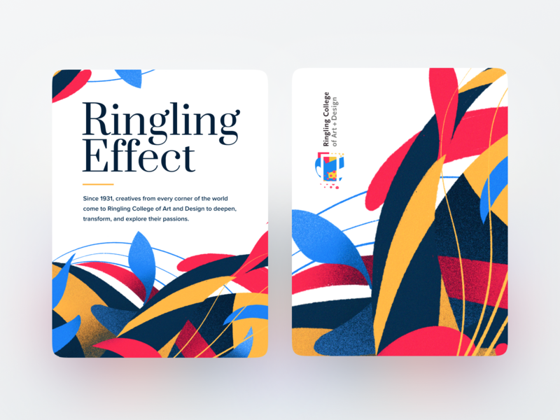 Ringling Effect typeography logo identity branding illustration card print florida sarasota school ringling