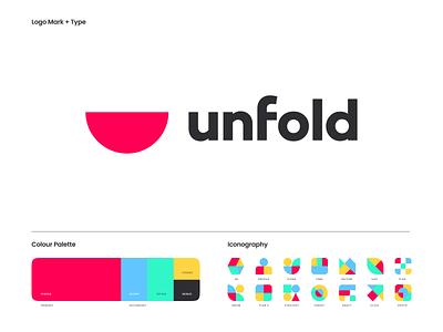 Unfold - Refresh web brand agency design illustration mark logo icons palette identity branding