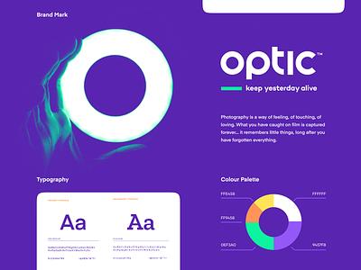 branding for optic design vector mark website app identity illustration branding logo mark