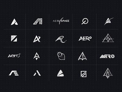 aero design sketch mark app identity illustration branding logo icon
