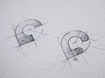 close pins icon app logo mark identity sketch pencil dotgrid