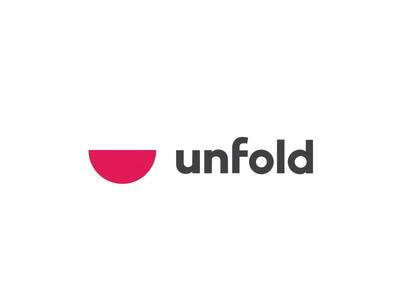 Unfold . Reel gif illustration logo branding app web website agency unfold