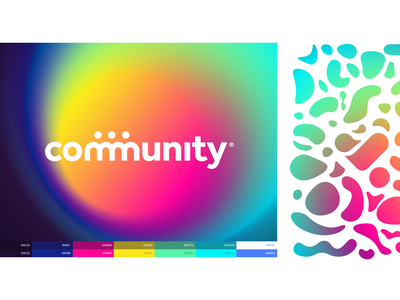 community typography iphone website app identity illustration branding logo icon