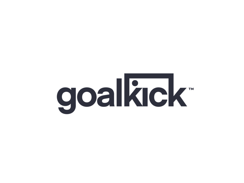 goalkick logo typography design mark identity branding logo icon