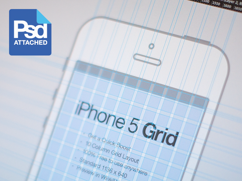 iPhone 5 Grid iphone grid system 5 ios design freebie psd download free cheat template simple minimal wireframe wire