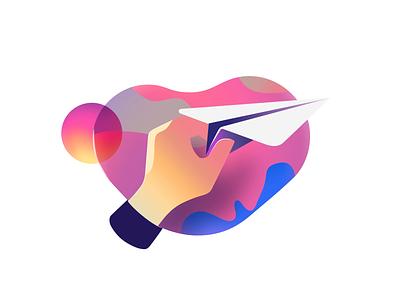 Crowdrise - Icon Animation interaction video icon illustration message send airplane gif motion animation