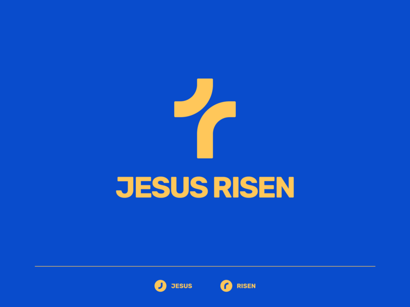 JESUS RISEN risen logo church logo icon church