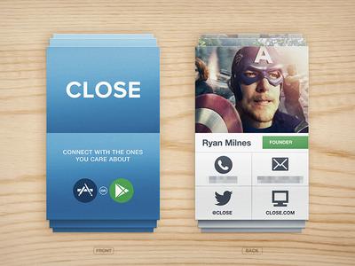 Close business card business card layout print design wood logo icons app iphone close ios capitan america flip book