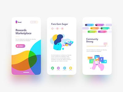 Sweet 🍭 sugar woman illustration blobs phone sweet andoid iphone ios app website