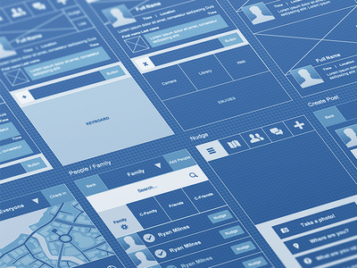 Wireframing Close wireframe blueprint simple iphone app close friends family