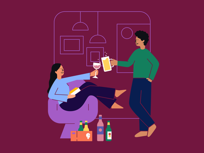 Swiggy Wine Shops Onboarding Illustration delivery ui vector branding brand illustration graphic design alcohol app design onboarding illustration app
