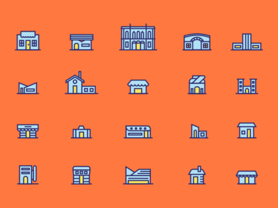 Icons made for a map