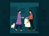 Swiggy Stores Illustrations - Onboarding