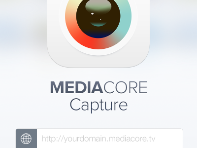 New MediaCore Capture Login ios7 video capture icon login