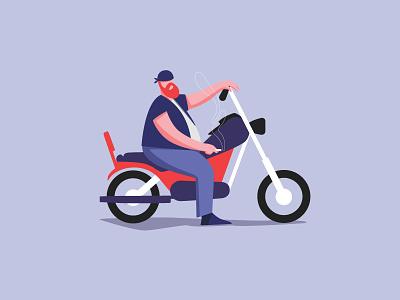 The biker web visualdevelopment illustration face character