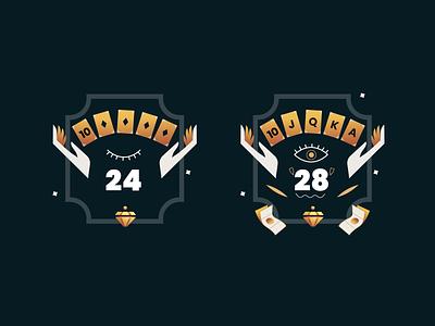Poker Badges badges game gradient minimal illustration ideation vector flat conceptart cardgame