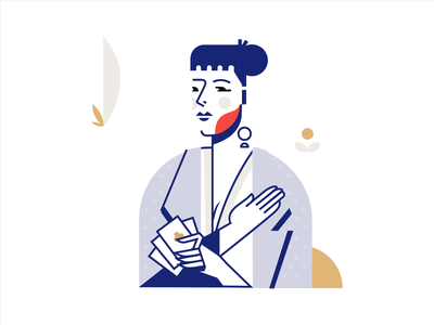 Loyalty Rewards illustrator vector ideation card poker character minimal flat illustration