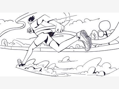 Discipline v/s Passion blog digitalpainting procreate linework ideation visualdevelopment sketch conceptart minimal character illustration