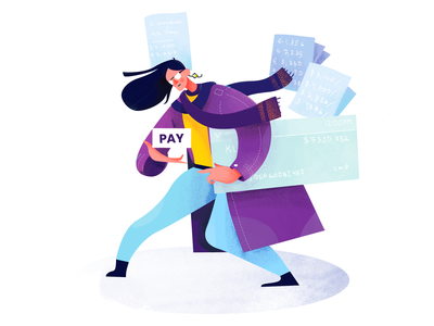 Finance conceptart purple colorful ui characters banking character illustration payment finance
