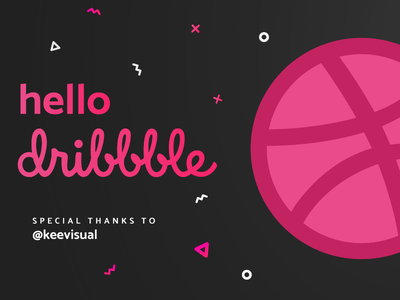 Hello Dribbble! keevisual dribbble shot first hello debut