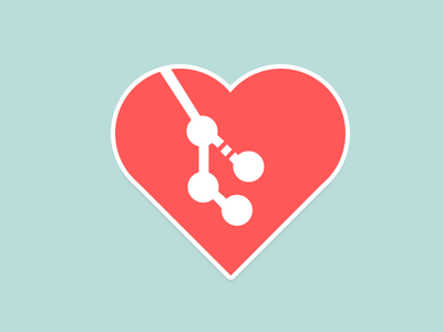 Git Love Sticker
