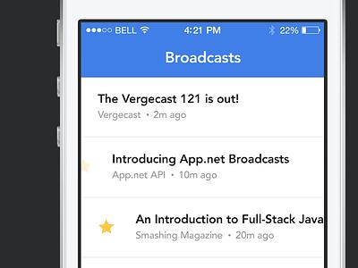 Breaking - Broadcast Listing breaking ios flat