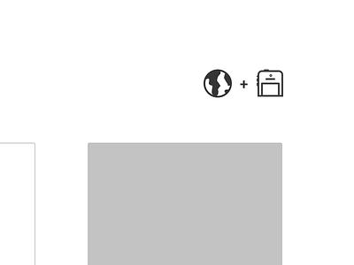 Globe + iPhone Glyphs glyph web minimal portfolio