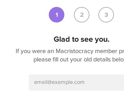 Form Steps form web minimal flat macristocracy