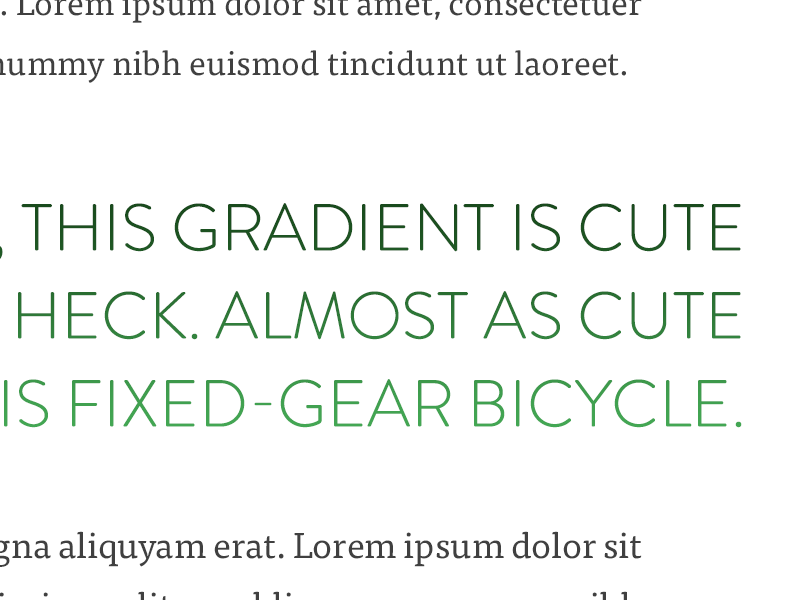 Article - Typography web minimal blog article gradients