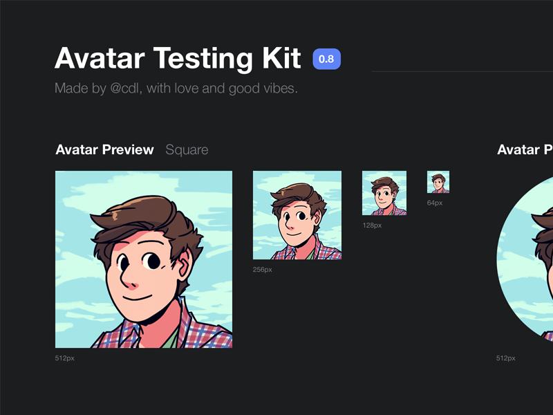 Avatar Testing Kit profile kit psd testing test avatar