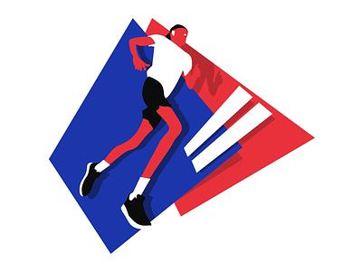 Marathon character illustration running sport marathon run