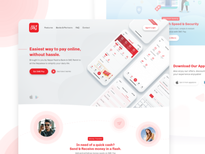 IME Pay Website Concept Design