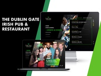 The Dublin Gate Irish Pub & Restaurant Website Concept