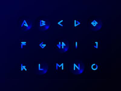 One Line Ombre Alphabet